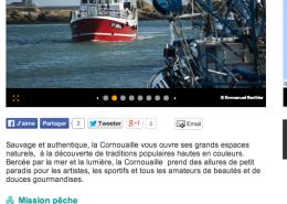 Page Cornouaille du CRT Bretagne