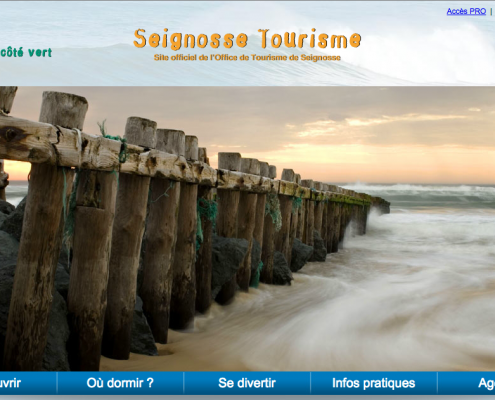 Site internet de Seignosse Tourisme